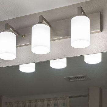 bathroom light fixtures.