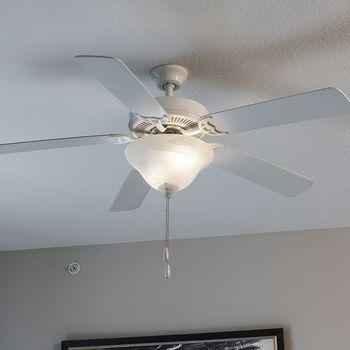 Modern ceiling fan.