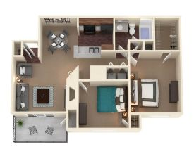 Two Bedroom One Bath