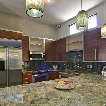 Kitchen Area with Double Sink in the Clubhouse