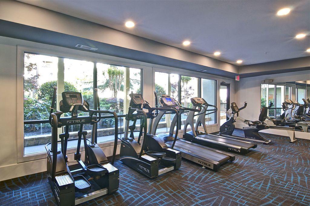 Treadmills Next to Windows