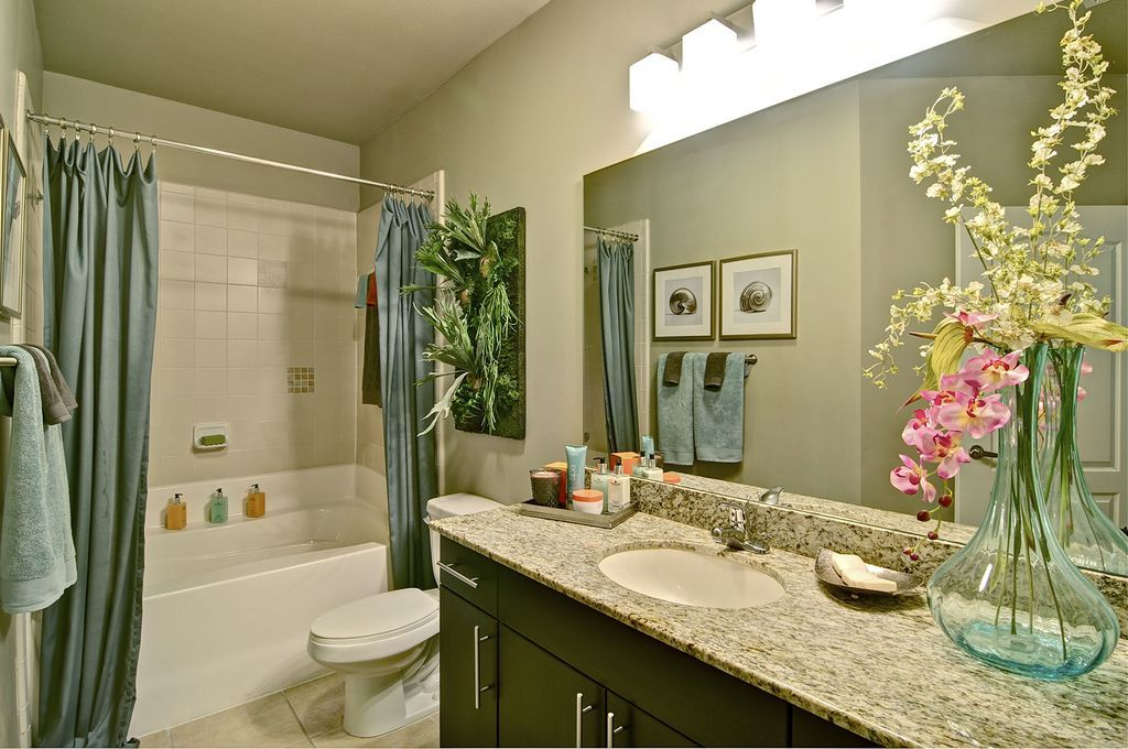 Bathroom Showing Tub with Shower