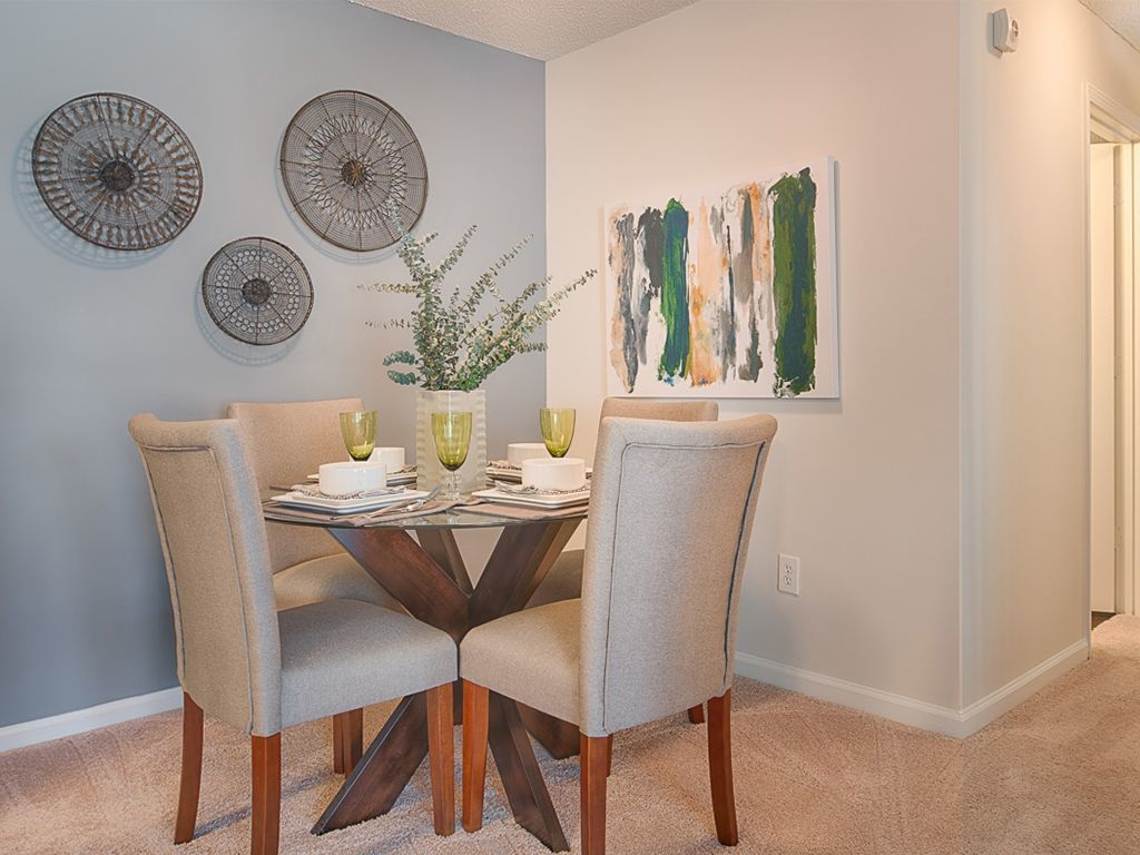 Dining Area with Table and Chairs