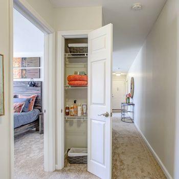 Hallway with Linen Closet